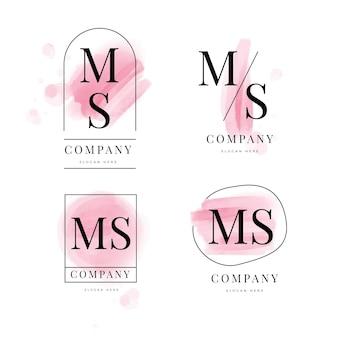 Pacote de logotipos ms pintados à mão