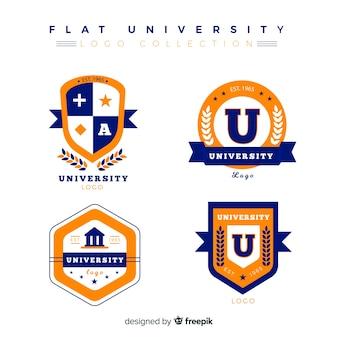 Pacote de logotipos universitários planas