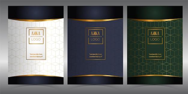 Pacote de luxo menu cover design geometric