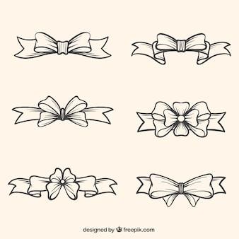 Pacote de mão desenhada arcos