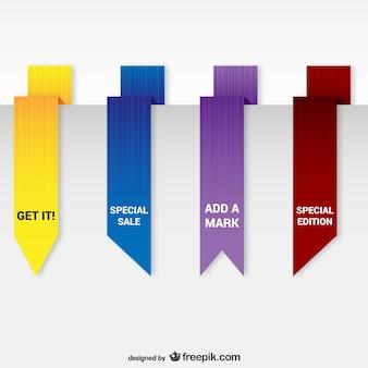 Pacote de marcadores de origami