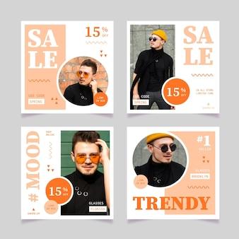 Pacote de mensagens de venda de moda
