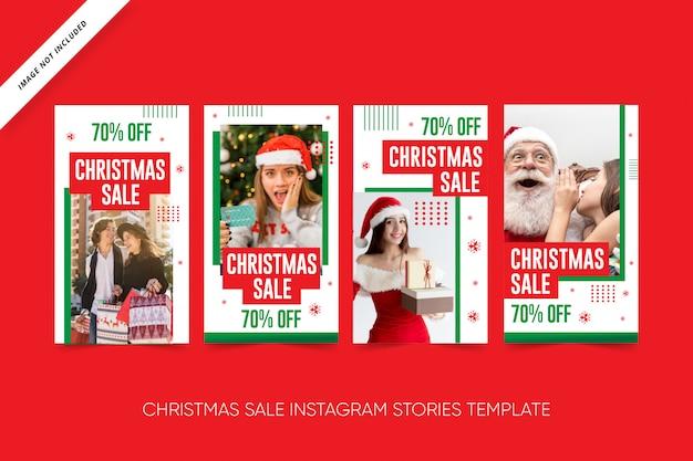 Pacote de mídia social de venda de natal