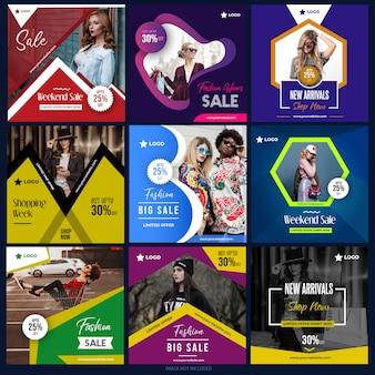 Pacote de mídia social para marketing digital