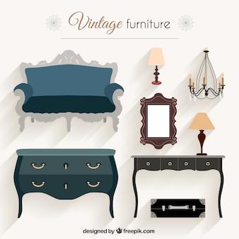 Pacote de mobiliário vintage