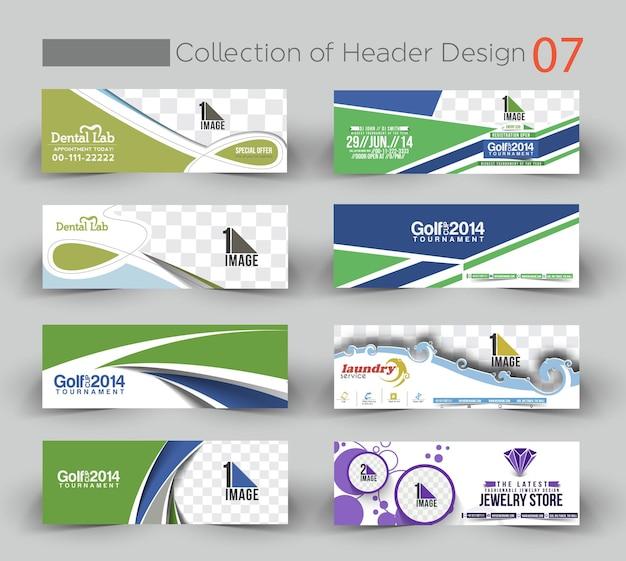 Pacote de modelo de banner de design empresarial moderno 07