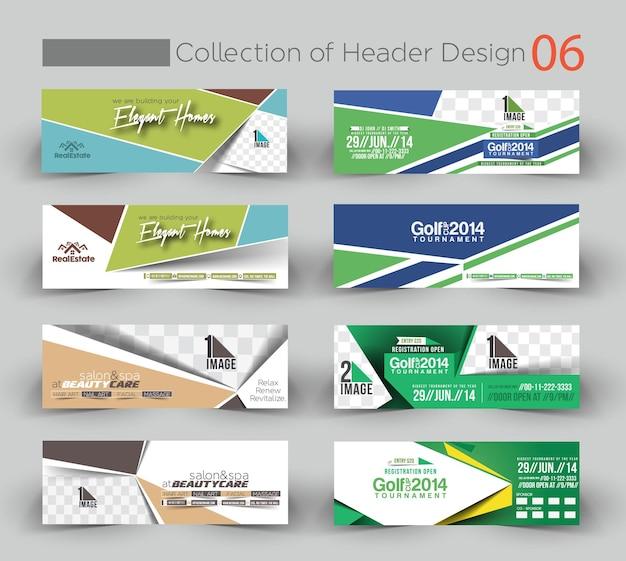 Pacote de modelo de banner de design empresarial moderno 6