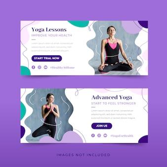 Pacote de modelo de banner de ioga