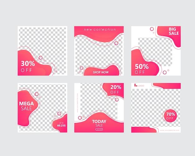 Pacote de modelo de banner de mídia social para histórias e postagem