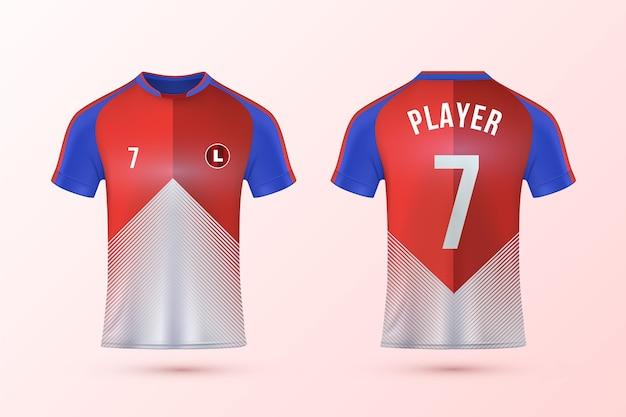 Pacote de modelo de camisa de futebol