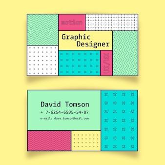 Pacote de modelo de cartão colorido abstrato