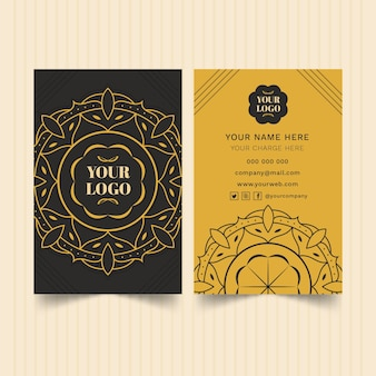 Pacote de modelo de cartão de visita mandala