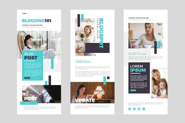 Pacote de modelo de e-mail do blogger com fotos