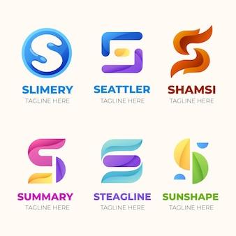 Pacote de modelo de logotipo de design plano