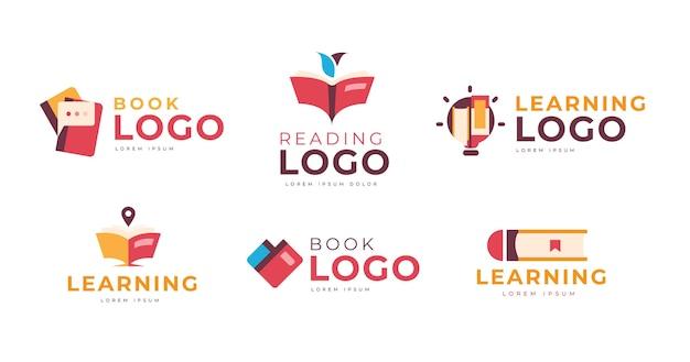 Pacote de modelo de logotipo de livro
