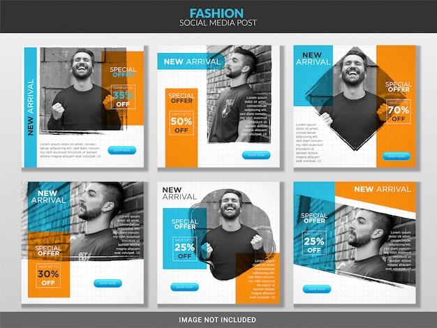 Pacote de modelo de postagem de moda de mídia social