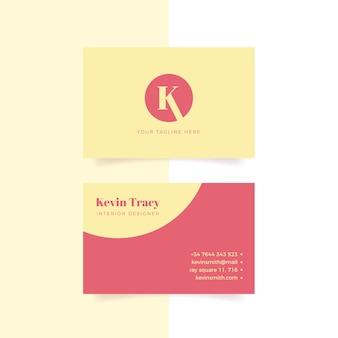 Pacote de modelo mínimo colorido de cartão de visita
