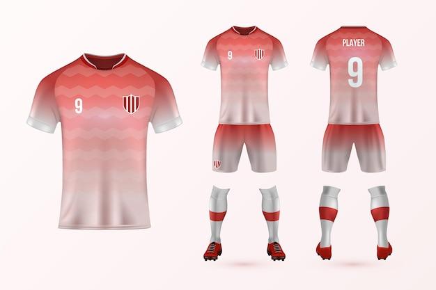 Pacote de modelo uniforme de futebol