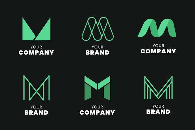 Pacote de modelos com logotipos m Vetor grátis