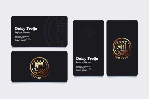 Pacote de modelos de cartão de visita de folha de ouro