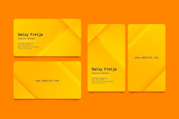 Pacote de modelos de cartão de visita neumorph