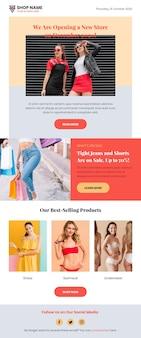 Pacote de modelos de e-mail de comércio eletrônico