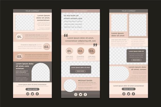 Pacote de modelos de e-mail do blogger