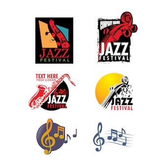 Pacote de modelos de logo jazz