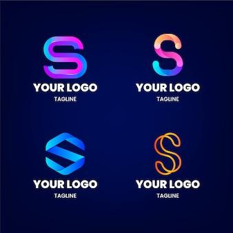 Pacote de modelos de logotipo da gradient