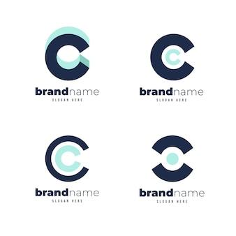 Pacote de modelos de logotipo flat c