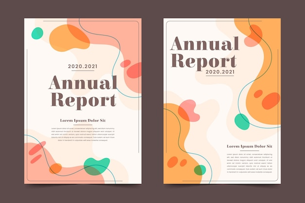 Pacote de modelos de relatório anual abstrato