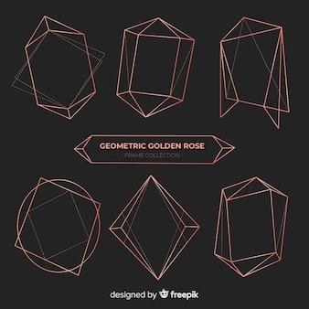 Pacote de moldura de ouro rosa brilhante