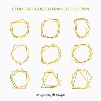Pacote de molduras douradas brilhantes