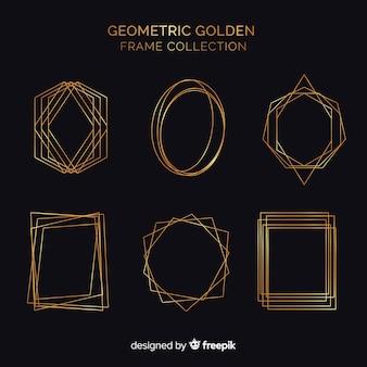 Pacote de molduras geométricas douradas