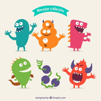 Pacote de monstros feliz