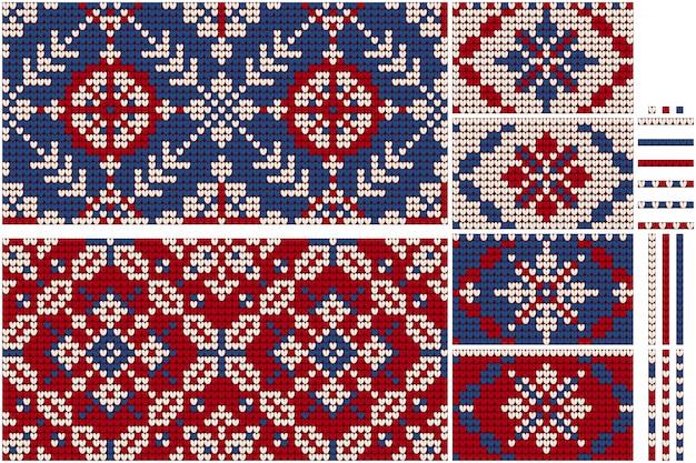Pacote de natal da avó de padrões de tricô