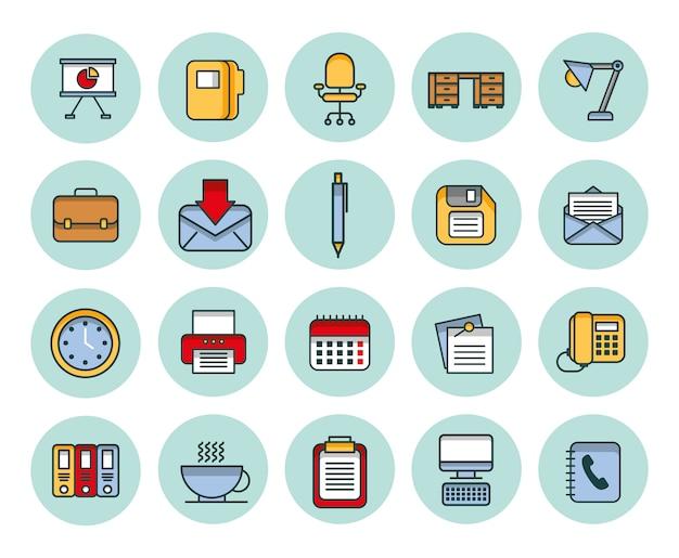 Pacote de negócios conjunto de ícones