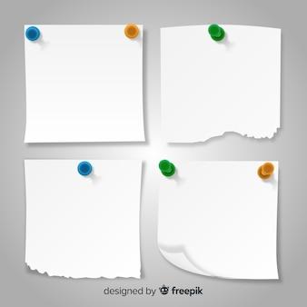 Pacote de notas em estilo detalhado