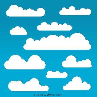 Pacote de nuvens brancas