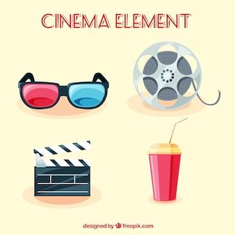 Pacote de objetos de filme