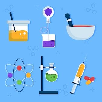 Pacote de objetos de laboratório de ciências