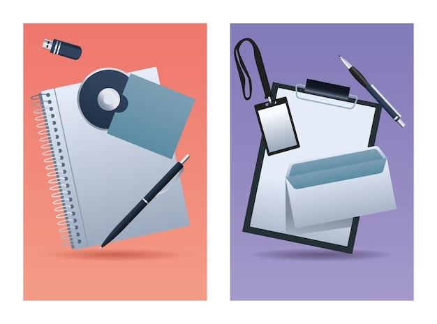 Pacote de oito materiais de escritório