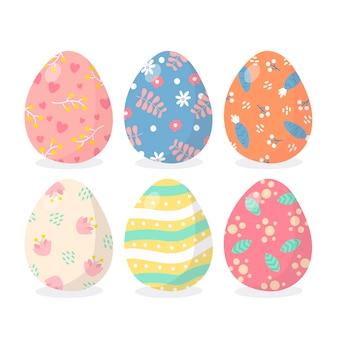 Pacote de ovos de páscoa de mão desenhada
