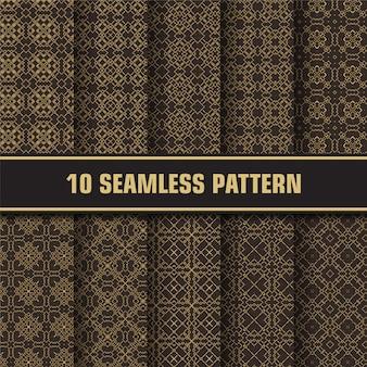 Pacote de padrão abstrato de luxo