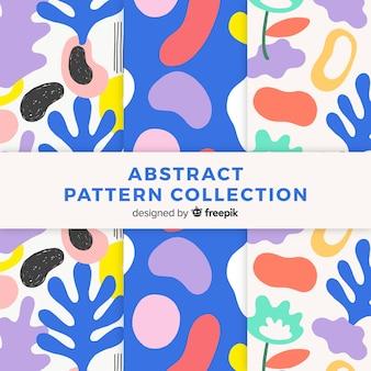 Pacote de padrão abstrato desenhada de mão