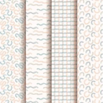 Pacote de padrão de design de mão desenhada
