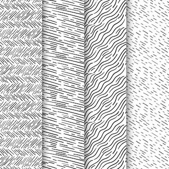 Pacote de padrão de gravura desenhada à mão