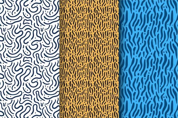 Pacote de padrão de linhas arredondadas