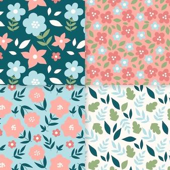 Pacote de padrão de primavera desenhado à mão