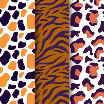 Pacote de padrão de textura animal